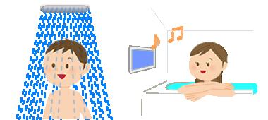 お風呂でリラックス[イラスト]