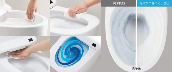 掃除のしやすいトイレ[イメージ]